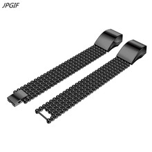 JPGIF NEW Stainless Steel Watch Bracelet Band Strap For Fitbit Alta HR H5TYa