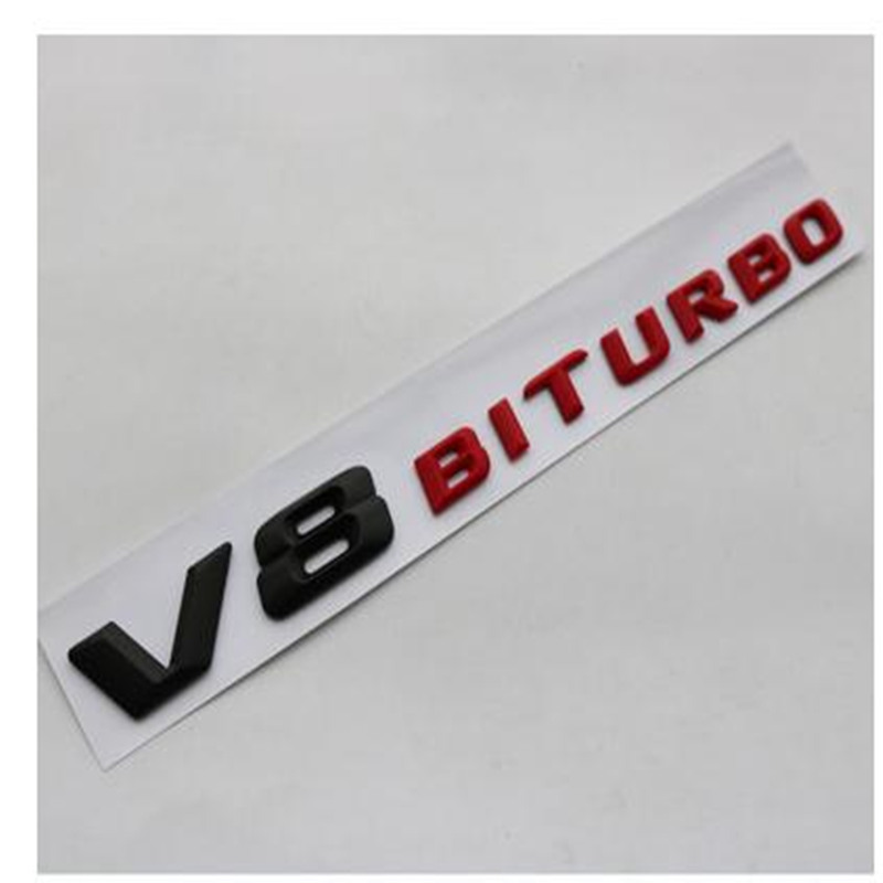 3D ABS V8 Biturbo Emblem Badge Decal Car Sticker Car-styling  for Benz CL63 CLS63 E63 C63 S63 Badge Trunk Stickers ручки benu 11 3 26 1 0 n cls