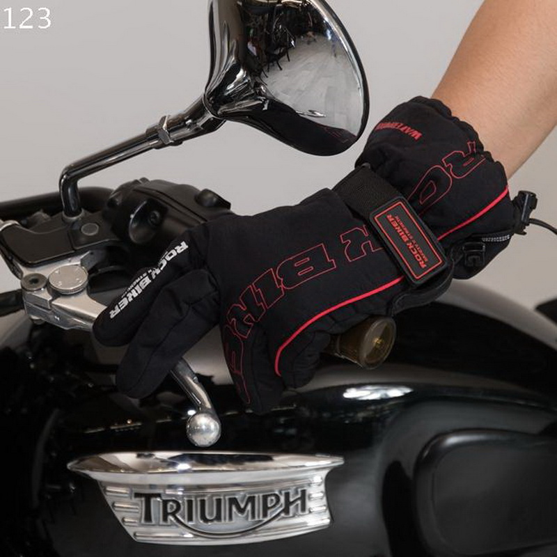2017 Summer New ROCK BIKER Motorcycle riding waterproof <font><b>gloves</b></font> off-road outdoor bike riding <font><b>glove</b></font> black red green white color