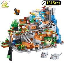 1315 шт. мой мир механизм пещера строительные блоки, совместимые legoed minecrafted Aminal Алекс фигурки героев кирпич игрушки для детей