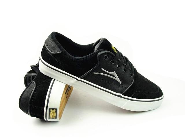 Tamanho EUA 10.5/11 Meninos Esportes de Verão Sapatos Zapatillas LAKAI Carlo Choque-Absorvente Anti-Fur Calçado Preto
