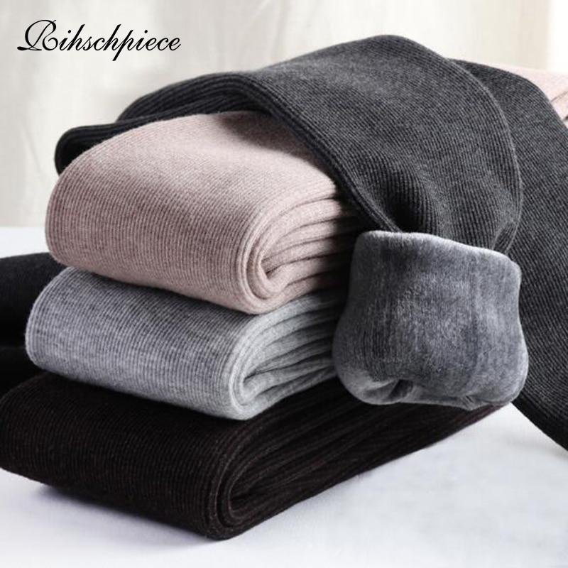 Rihschpiece Warm Winter Velvet Leggings Women Thick High Waist Christmas Leggins Pants Plus Size Women Legging RZF1534