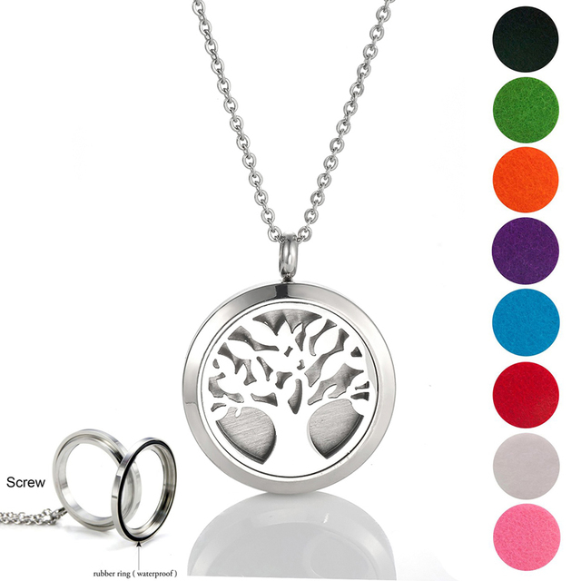 316L Stainless steel Essential Oil Diffuser Necklace Perfume Pendant Necklace Aromatherapy locket latest design screw locket