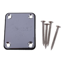 HOT 5X Electric Guitar Neck Plate Neck Plate Fix Tele Telecaster Guitar Neck Joint Board – Including Screws