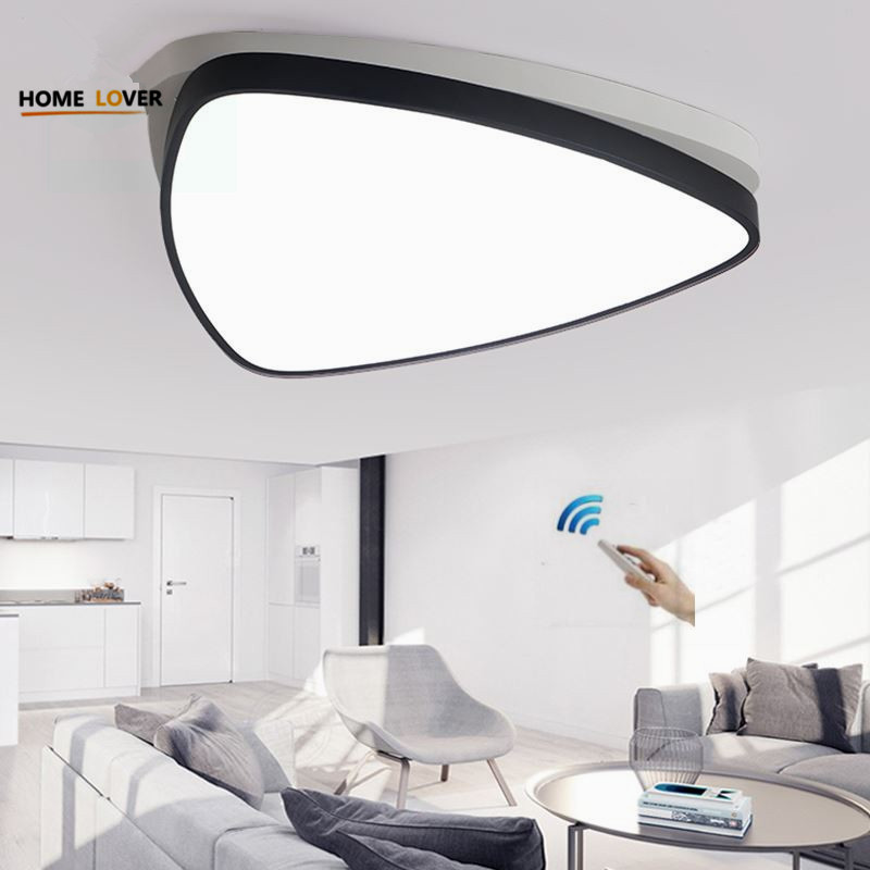 Surface mounted Triangle modern led ceiling chandelier lights lamp for living study room bedroom led chandelier lamp fixtures