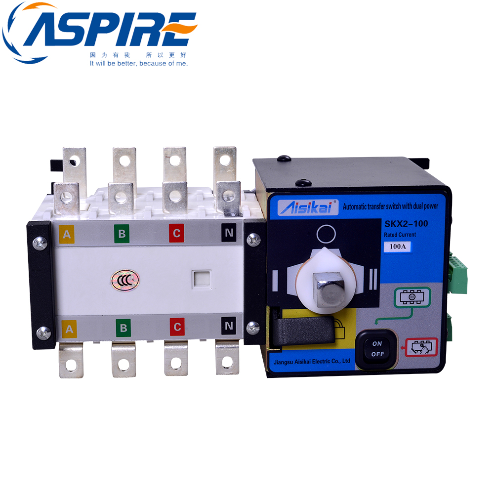 100A Three Phase Genset ATS Automatic Transfer Switch 4P ATS fast shipping syk2 100a 4p suyang ats