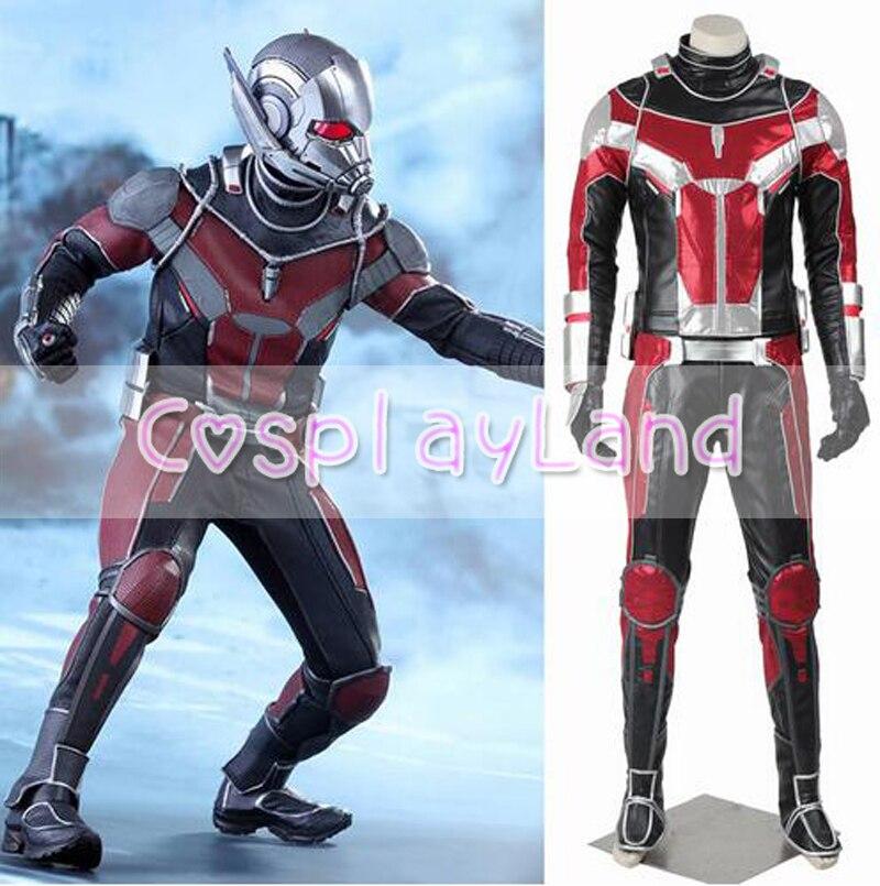 Ant Man Cosplay Costume Adult Captain America Civil War Superhero Ant-man Costume Carnival Halloween Costumes for Men Custom