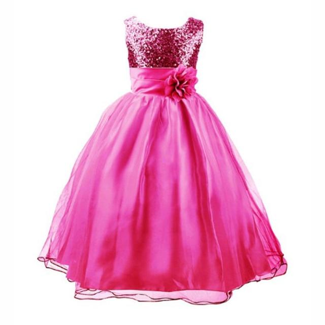 2017 Nuevo Vestido de la manera para La Muchacha de La Princesa vestido de Fiesta para Niña Vestido sin mangas para 4 5 67 8 9 10 11 12 años