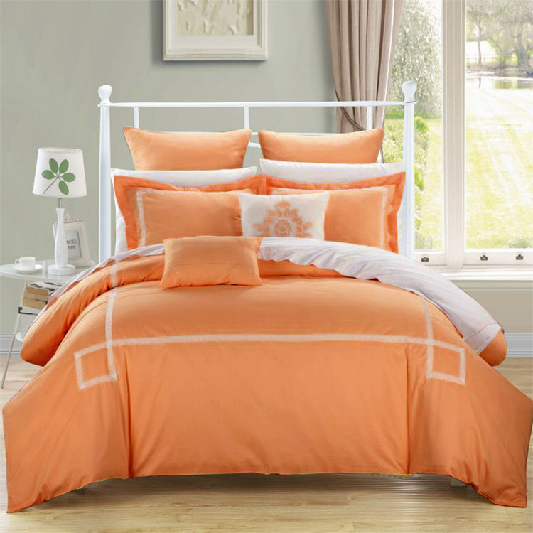 4pc/6pc/10pc Comforter Bedding Sets Blue/grey/green/orange/purple Deep Blue  Colors Bed Sheet King Queen Size Pillowcase In Bedding Sets From Home U0026  Garden ...