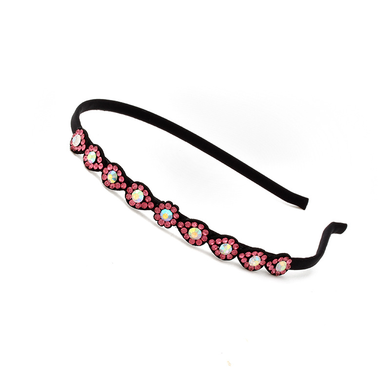 Water Drop Rhinestones Stars Hair Bands Artificial Leather Headbands for Women Girls Hair Accessories Headwear