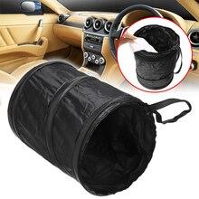 все цены на Portable Car Dustbin Garbage Bag Dust Seat Back Storage Rubbish Bin Box Case Sundries Holder Organizer Pocket Bags Trash 16x20cm онлайн