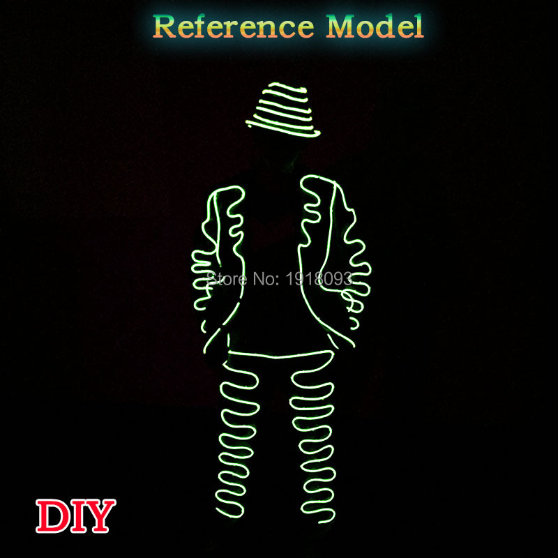 Luminous Costumes Glowing LED Suit EL Suit Jiangnan Style Dance Show for Holiday Performance Decor