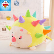 lovely colorful Hedgehog 60 cm plush toy soft hug toy Hedgehog throw pillow ,Christmas gift x239
