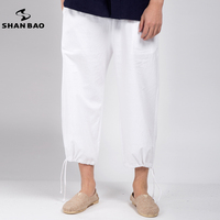 2018 Spring And Summer Brand Clothing New Linen Pants High Quality Straight Loose Men S Pants