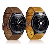 DAHASE Retro Top Layer Genuine Leather Watch Band For Samsung Gear S3 Frontier Strap For Gear
