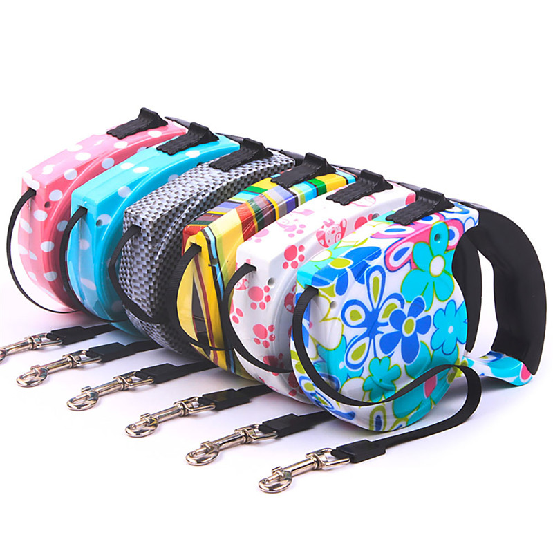 Cute 5M Automatic Retractable Pet Dog Traction Rope Stretching Band Walking Lead