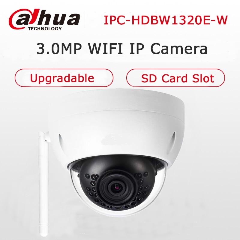 Dahua English Version Wireless IPC-HDBW1320E-W 3MP WIFI IP Camera IR 30M IP67 IP Camera SD Card Slot Mini Dome Camera Upgradable dahua ip wifi easy4ip camera 3mp ipc hdbw1320e w wifi camera p2p cctv camera micro sd card slot up to 128gb