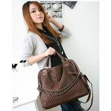 Heißer Verkauf Designer Marke Frauen Pu-leder Knittting Handtaschen Damen Schultertasche Einkaufstasche Weibliche Retro Vintage Messenger Bags