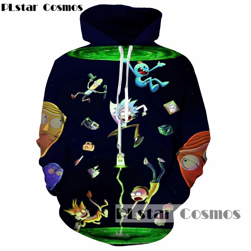 PLstar Cosmos hot sale Fashion Hoodies Men/Women 3d Sweatshirts rick and morty Print harajuku Hooded Hoodies casual Sweatshirts