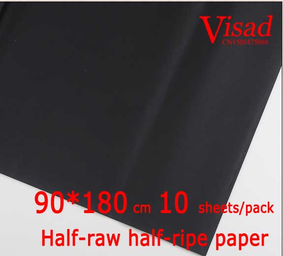 black Chiese xuan paper,VISAD painting paper,90*180cm decoupage rice paper Half-raw half-ripe paper free shipping 100 pieces lot 7 colors hand made chinese rice paper for painting and decoupage 64 135cm xuan paper