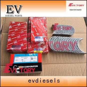Voor Mitsubishi S6S Motor Rebuild Kit S6S Zuiger + Zuiger Ring + Cilinder Liner + Pakking Kit En Lager