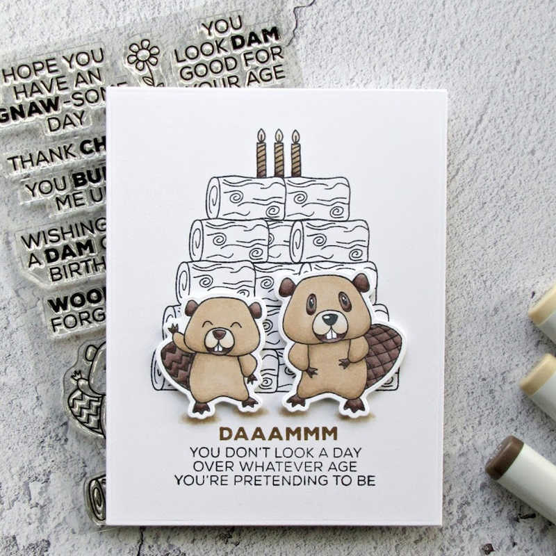 AZSG Heartfelt Blessings/Funny Beaver Clear Stamps/Seals For DIY Scrapbooking/Card Making/Album Decorative Silicone Stamp Craft