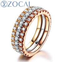 ZOCAI Южная Африка 0.39 карат кольцо с бриллиантом 18 К белого золота обручальное кольцо 18 К цвета розового золота 18 К желтое Золото доступны w04547