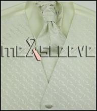 Men's ivory  Dress Vest ascot Tie Set for Suit or Tuxedo