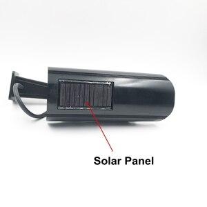 Поддельные IP камеры солнечной энергии открытый моделирования манекен камера водонепроницаемый безопасности видеонаблюдения пуля с мигаю...