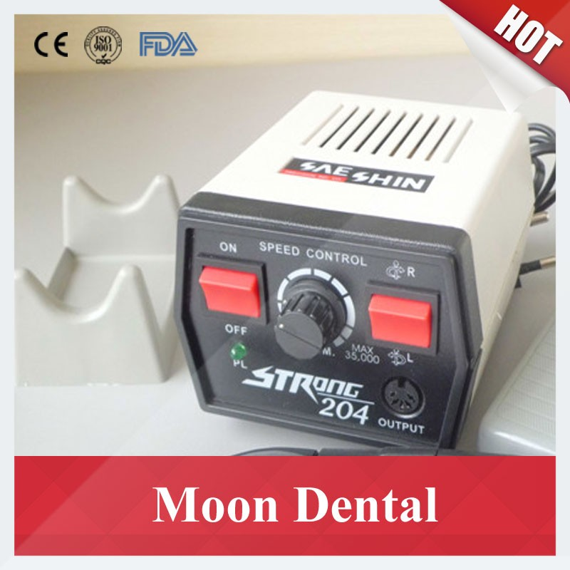 Strong 204 mocromotor+108E+straight contra angle handpiece 5