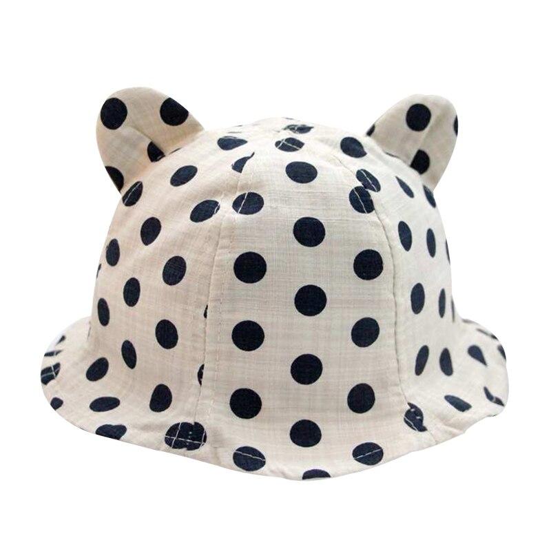 Nieuwe dot panama hoed baby katoen linnen zomer kinderen cap voor - Babykleding - Foto 3
