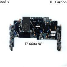 For Lenovo X1 Carbon 4th Gen Yoga X1 Laptop Motherboard I7-6600U 8G 14282-2M LRV1 MB 448.04P16.002M 1AX808 Mainboard 100% test