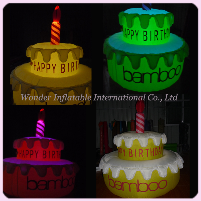 Enjoyable 2M High New Party Decoration Big Inflatable Birthday Cake Birthday Cards Printable Inklcafe Filternl