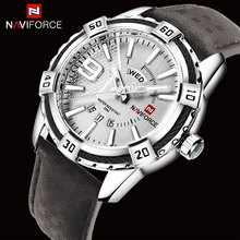 цена на NAVIFORCE Top Luxury Brand Men's Watch Leather Strap Business Quartz Watches Men Date Waterproof Wrist watch relogio masculino