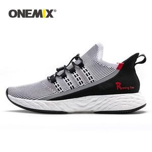 Image 1 - ONEMIX 2020 Vulcanize Tennis Shoes Men Sneakers Summer Trainers Lightweight Reflective Outdoor Sports Casual Trekking Shoes