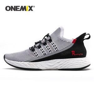 Image 1 - Onemix 2020 加硫テニスシューズ男性スニーカー夏トレーナー軽量反射屋外スポーツカジュアルトレッキング靴