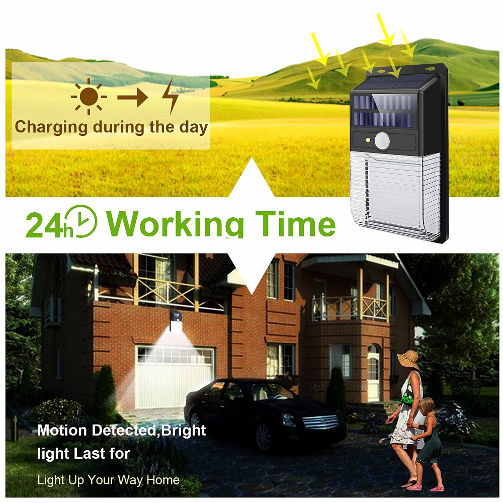 LED Sensor Night Lights with Motion Sensor Wireless Wall Lamp Outdoor Waterproof Solar Garden Streets Light Road Auto Night Lamp (5)