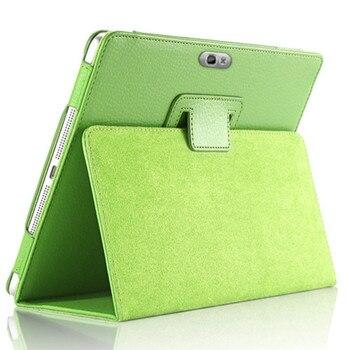 PU skórzane etui do Samsung Galaxy Note 10.1(2012) pokrywa GT-N8000 N8000 N8010 N8020 Tablet magnes stojak odwróć stojak Folio okładka