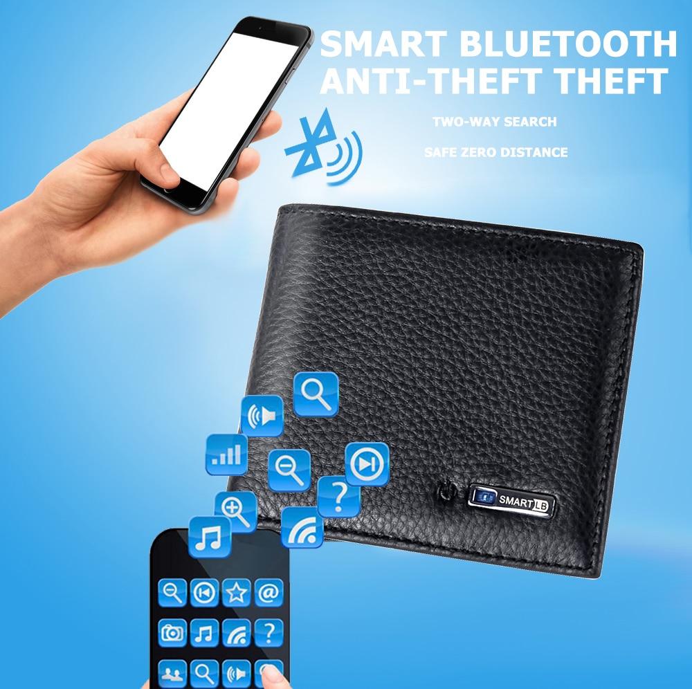 Portefeuille connecté avec GPS tracker intelligent , bluetooth , alarme