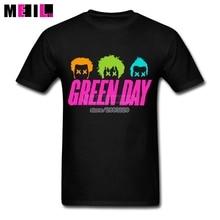 Green Day London Custom Cotton Short Sleeve For Man T-shirt Band Humorous XXXL T shirt