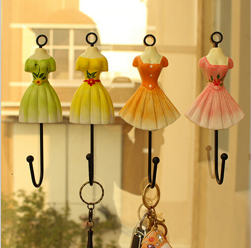 Towel Decorative Wall Hook 6pcs Set, Princess Dress Hook, Colorful ...
