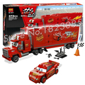 373pcs Bela 10017 Pixar cars MACK'S TEAM TRUCK Building Blocks Bricks Model Toys Compatible With Lego
