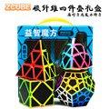 Zhenwei Cubo di Velocità Di Puzzle Pack | 2x2 3x3 4x4 5x5 In Fibra di Riso piramide Skew Megaminx Stickerless Cube Insieme di Set di Carbonio