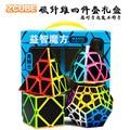 Zhenwei Speed Cube Puzzel Pack | 2x2 3x3 4x4 5x5 Fiber Rijst piramide Skew Megaminx Carbon Stickerloze Kubus Set Collectie