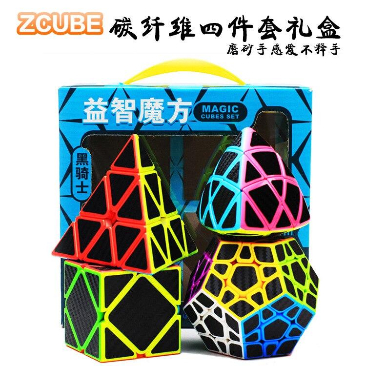 Zhenwei Speed Cube Puzzle Pack   2x2 3x3 4x4 5x5 Fiber Rice Pyramid Skew Megaminx Carbon Stickerless Cube Set Collection