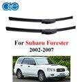 Oge brisas escovas de carro para subaru forester 2002 2003 2004 2005 2006 2007 21 ''+ 19'' profissional limpadores dianteiros f03