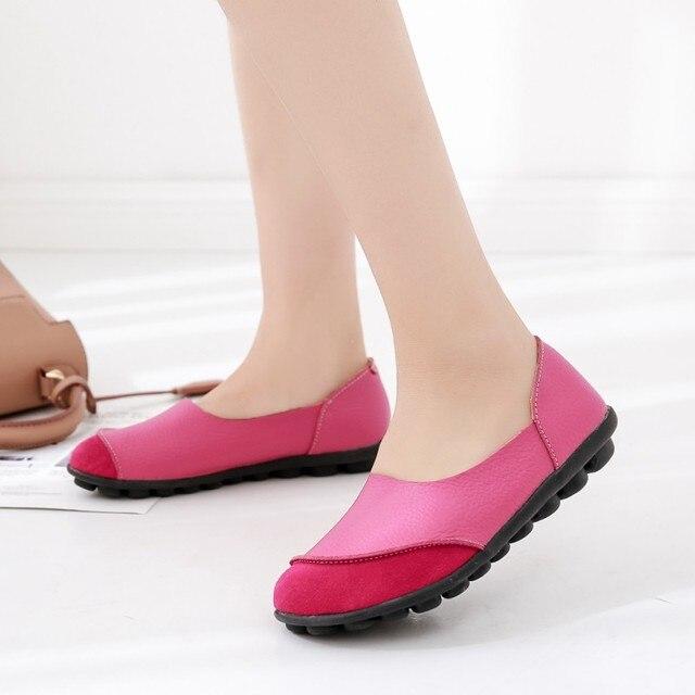 Женские туфли-лодочки 2018 Новый Модная весенняя женская обувь Лоферы для женщин Повседневное мягкие туфли на плоской подошве женские удобные, дамы Туфли без каблуков ybt702