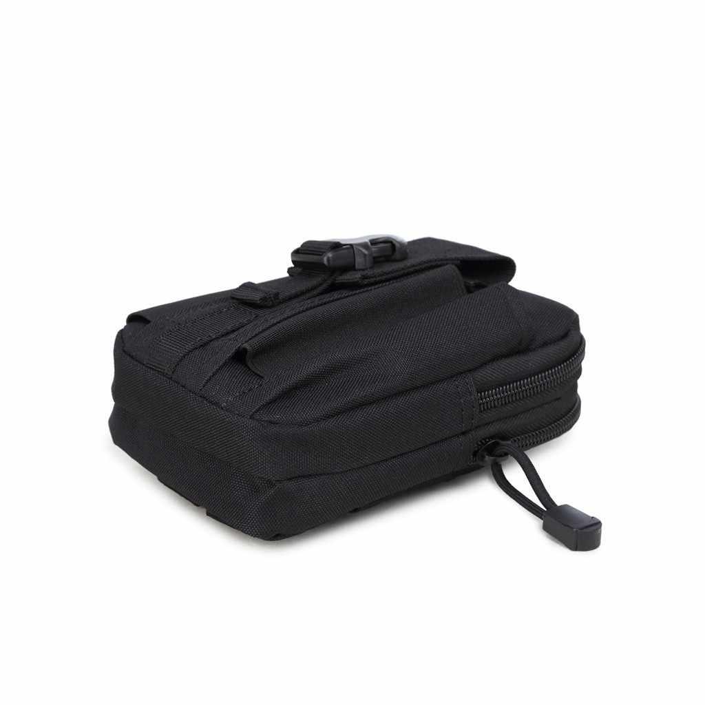 Cuoio degli uomini delle donne del sacchetto della tela di canapa Multi-Purpose Strumento di Supporto Del Telefono Fondina Sport Trekking Camping Cintura Borse sacoche ceinture homme