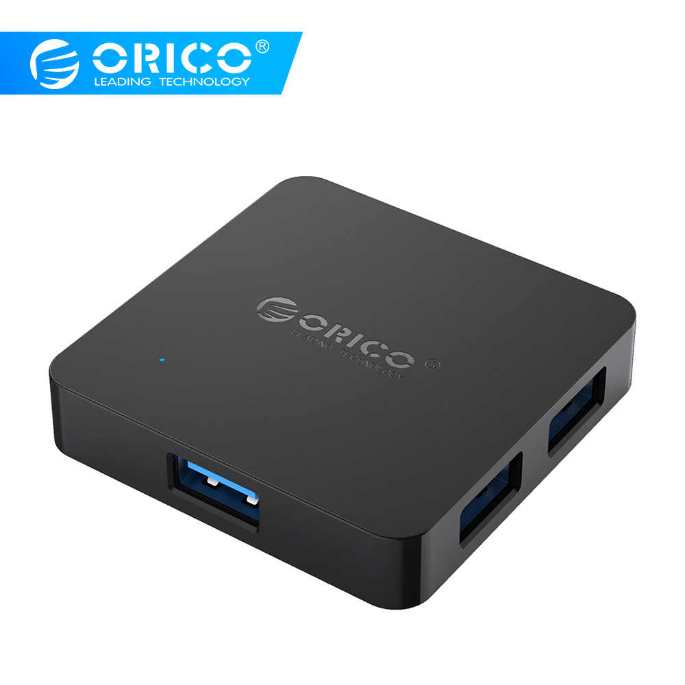 Orico TA4U USB HUB 4 Port USB3.0 Portable HUB USB 3.0 Dapat Digunakan Sebagai Charger UNTUK Charger Ponsel Anda