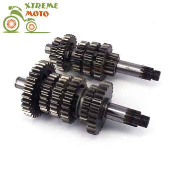 Motorcycle Six-range Countershaft Main Gear Shast For ZONGSHEN 77MM NC250 250cc KAYO T6 K6 BSE J5 RX3 ZS250GY-3 4 Valves Parts